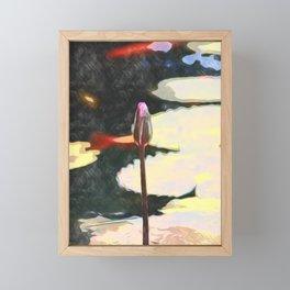 lotus bud painting Framed Mini Art Print