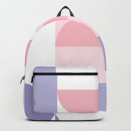 Minimal Bauhaus Semi Circle Geometric Pattern 2 - #bauhaus #minimal Backpack