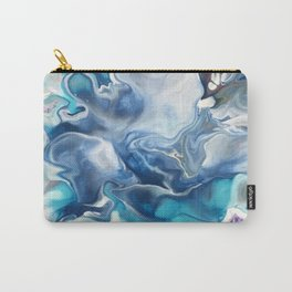 Abstract Blue Rose Carry-All Pouch
