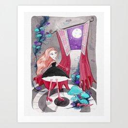 Noche en la torre Art Print