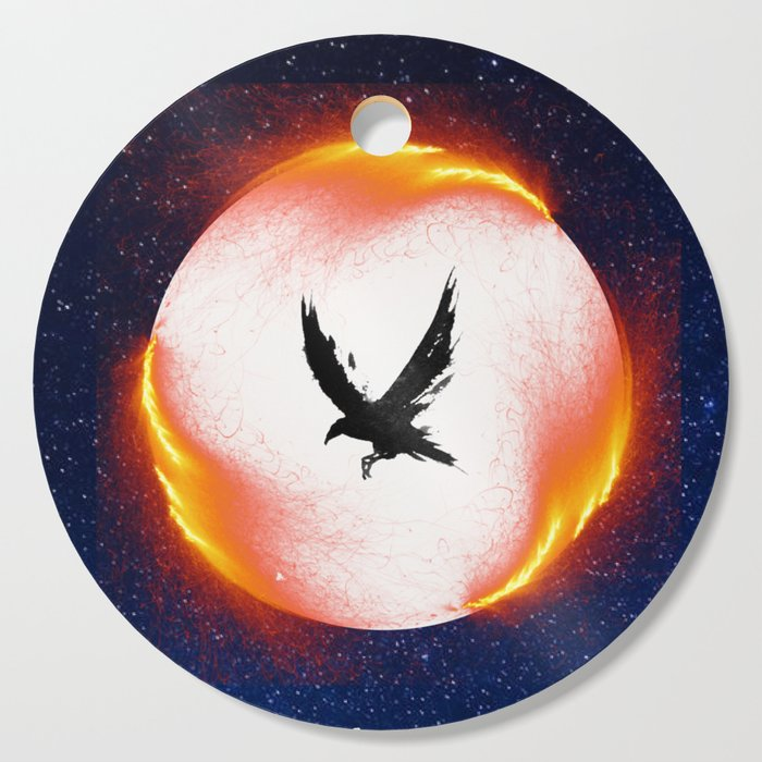 The Head is too Wise The Heart is All Fire | Raven Cycle Design Cutting Board