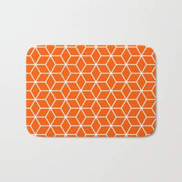 Winter 2018 Color: Unapologetic Orange in Cubes Bath Mat