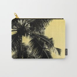 High palms poster in yellow Carry-All Pouch