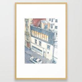 Saganaki House Framed Art Print