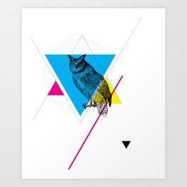 HYPSTER OWL Art Print