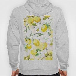 Watercolor lemons Hoody