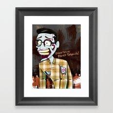 Hipster Zombie Framed Art Print