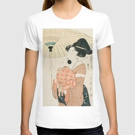 Prayers for Rain by Kitagawa Utamaro T-shirt