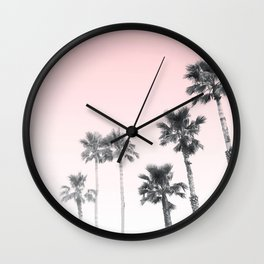 Tranquillity - pink sky Wall Clock