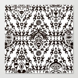 Ethnic Tribal African pattern Canvas Print