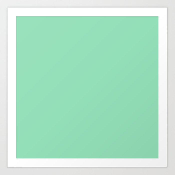 Pastel Sea Green Color Art Print