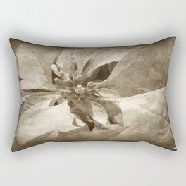 Pale Yellow Poinsettia 1 Antiqued Rectangular Pillow