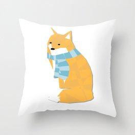 Cozy Fox Throw Pillow