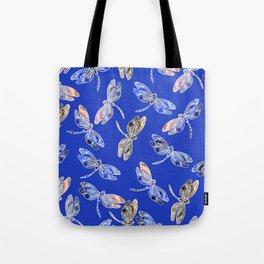 Dragonflies Blue Tote Bag