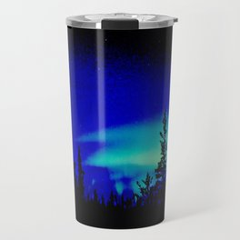 Aurora Borealis Forest Vibrant Travel Mug