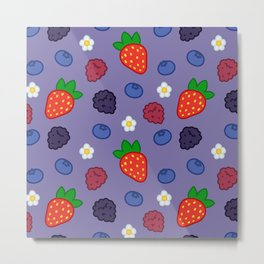 Mixed Berry Smoothie Metal Print