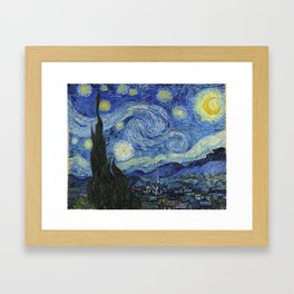 The Starry Night by Vincent van Gogh Framed Art Print