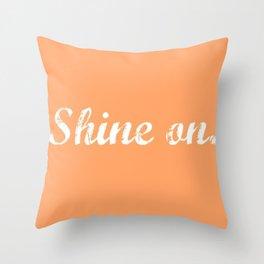 Peach Shine On. Throw Pillow