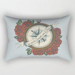 Deja Que Tu Corazón Sea Tu Brújula (Let Your Heart Be Your Compass Spanish) Rectangular Pillow