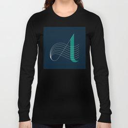 """A"" Drop Cap Long Sleeve T-shirt"