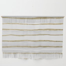 Gold Stripes Wall Hanging