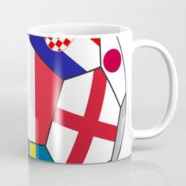 Football ball with various flags - semifinal and final Coffee Mug