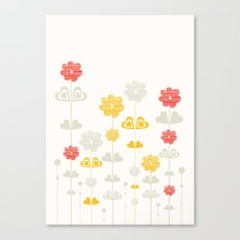I heart flowers Canvas Print