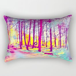 Let's Take Our Hearts For A Walk In The Woods and Listen to the Magic Whispers of Old Trees... Rectangular Pillow
