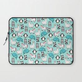 Narwhal,Unicorn, Panda, Llama, Penguin, Hippo, Animal Print For Girls Laptop Sleeve