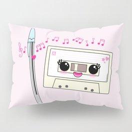 Cute pen and cassette lovers Pillow Sham