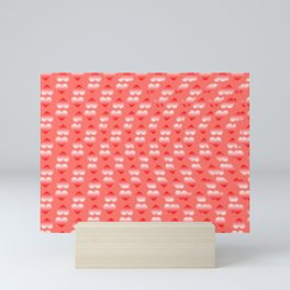 Hearts pattern and stereogram - See the hidden 3D image! Mini Art Print