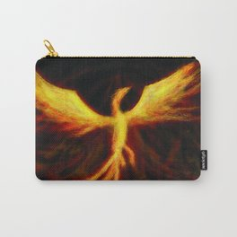 Phoenix Rising Fantasy Painting Bird Mythology Lengendary Creature Rebirth Colorful Carry-All Pouch