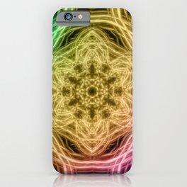 Elegant rainbow kaleidoscopes iPhone Case