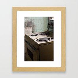 river stove Framed Art Print