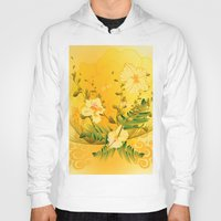 matty healy Hoodies featuring Wonderful soft yellow flowers by nicky2342