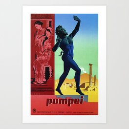 Pompei Pompeii Italian travel Art Print