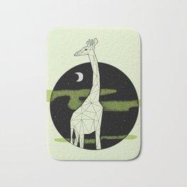 Giraffe in geometric style Bath Mat