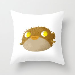 Blowfish Throw Pillow