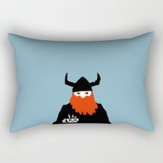 Viking and his morning coffee Rectangular Pillow