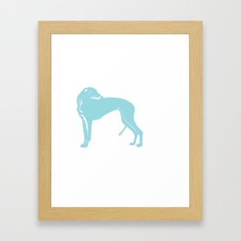 Greyhound Dog in Aqua Blue Framed Art Print
