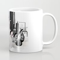 oil Mugs featuring OIL by CITYABYSS