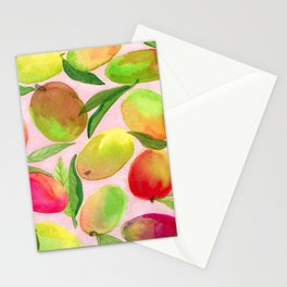 Mango Watercolor Painting Stationery Cards