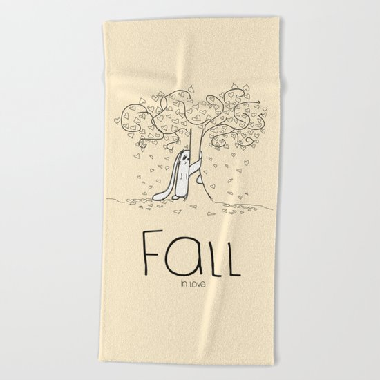 FALL in love Beach Towel