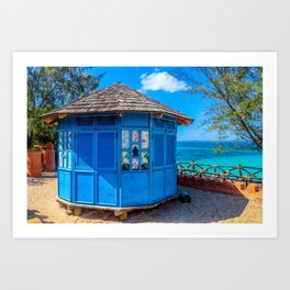 Zanzibar Hut Art Print