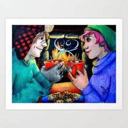 Tonks and Remus - Harry Potter Art Print