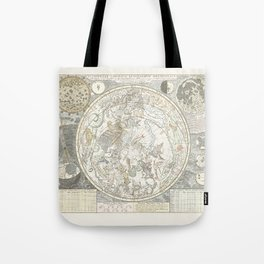 Star map of the Southern Starry Sky Tote Bag