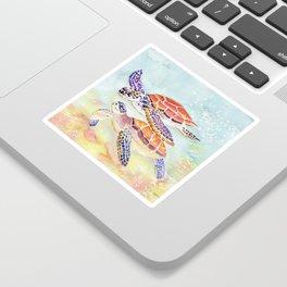 Swimming Together - Sea Turtle Sticker