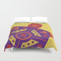 turtle Duvet Covers featuring Turtle by Claire Lordon