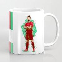 ronaldo Mugs featuring Football Legends: Cristiano Ronaldo - Portugal by Akyanyme