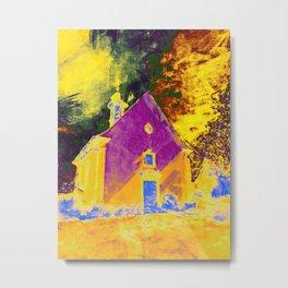 Fire church Metal Print
